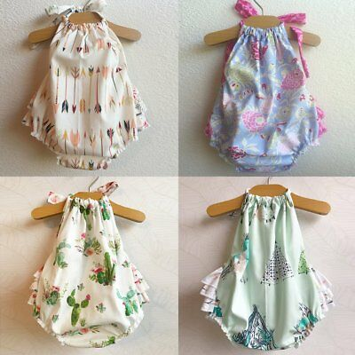Newborn Baby Girl Floral Romper Bodysuit Jumpsuit Outfits Sunsuit Clothes 0-24M