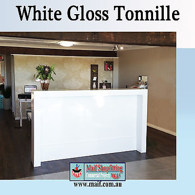 Reception counter, Reception desk, white gloss.  Medical, Estate agents, office