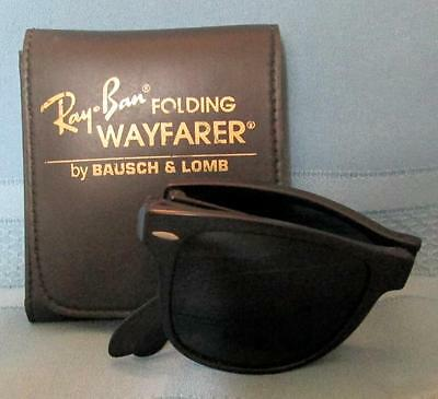 Vintage RAY-BAN Folding WAYFARER Sunglasses Bausch & Lomb w/ Leather Case SUPER!