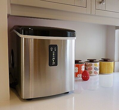 Counter Top Ice Maker Ice Machine Stainless Steel Portable TG22 26 Lbs Per Day