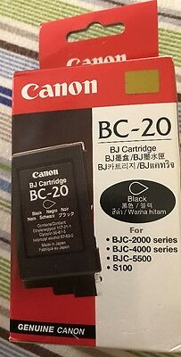 Genuine .Canon Black Ink Cartridge BC 20, BJC-2000, BJC-4000, BJC-5500, S100