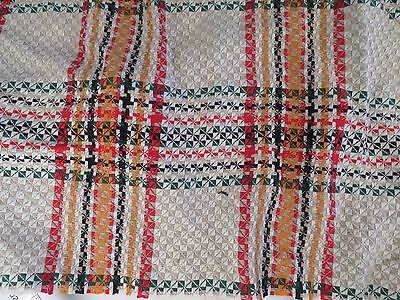 Vintage Antique Loomed Woven Textile Fabric Piece STUNNING