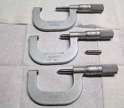 A Set of Starrett 1-2 Inch Pitch Micrometers 8 to 30 Pitch
