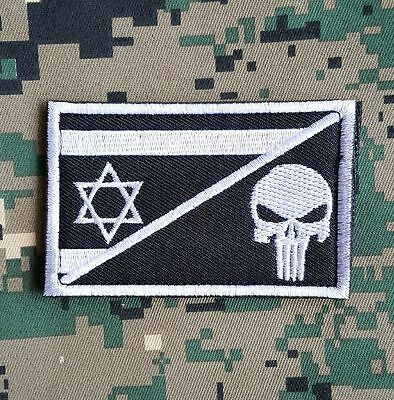 Israel Flag Skull Flag Army Morale Badge Tactical Patches Embroidery Patch *01