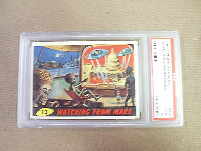 "Mars Attack # 13 "" Watching From Mars ""   Psa 5 Excellent  1962 Bubbles"