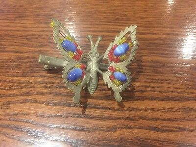 Vintage Art Deco Butterfly Hair Clip Brooch Jewellery