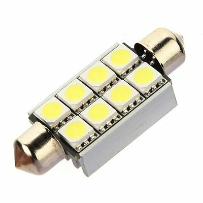 10 x Soffitte C5W 8 SMD 5050 LED 42MM Weiss CANBUS Innenraum Lampe Licht GY I2L0