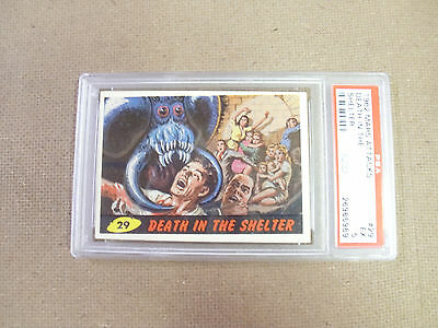 "Mars Attack # 29 "" Death In The Shelter ""   Psa 5 Excellent  1962 Bubbles"