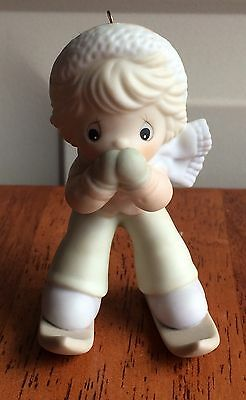 Precious Moments Ornament Skiing 1993