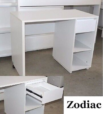 Zodiac Deluxe One Drawer Desk In White - To Suit Zodiac Cabin Bunk Bed