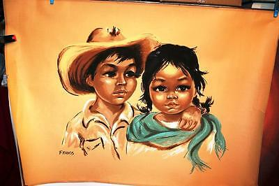 Dorothy Francis Large Boy And Girl Signed 33 X 23 Inches