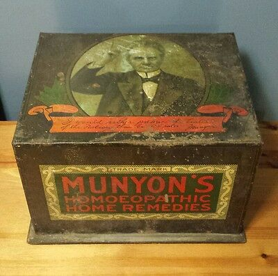 Rare Antique Munyon's Homeopathic Home Remedies General Store Counter Display