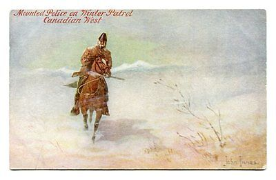 NWMP Canada North West Mounted Police Postcard Painting by John Innes, Troilene