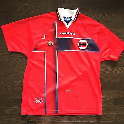 Vintage Norway Umbro Football Soccer Jersey Mens Size XL