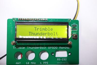 Trimble ThunderBolt Timing GPS Receive GPSDO 10MHz GPS Disciplined Clock Monitor