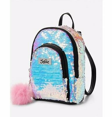 Justice Girl Mini Iridescent Sequin Backpack
