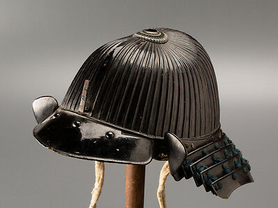 Japanese Armor 64 Plate Ribbed KABUTO Helmet Signed: AY448