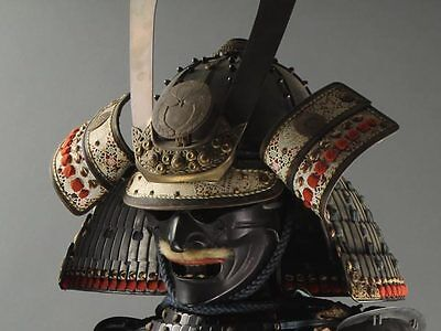 Japanese Wearable SAMURAI Warrior YOROI Armor & KABUTO Helmet Set w/ Box: AZ072