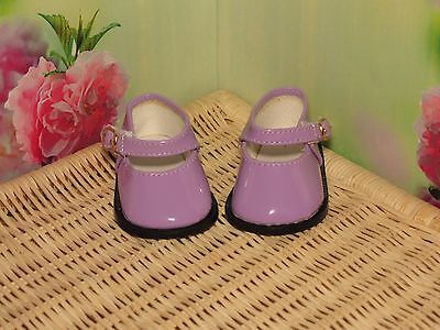 Shoes To Fit The American Galoob Baby Face Girl Doll Purple Shiny Maryjane