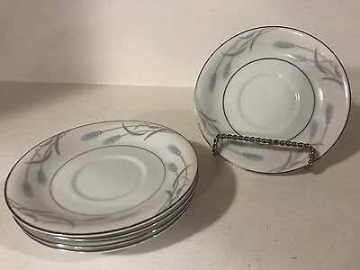 "Valmont Fine China of Japan Royal Wheat Pattern 5.5"" Saucer Set of 5"