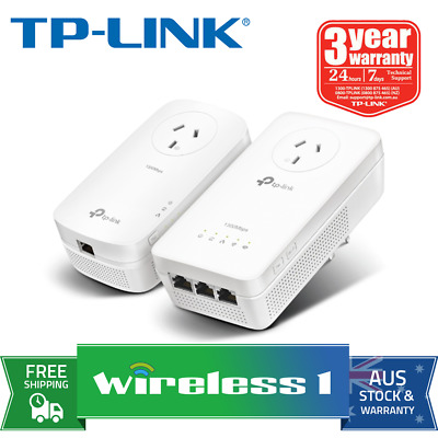 TP-Link TL-WPA8630P KIT AV1200 Wi-Fi Passthrough Range Extender Powerline