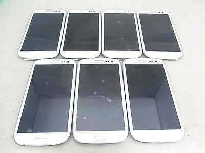 Lot Of 7 Good Sprint Samsung Galaxy S Iii Sph-L710 Android Clean Esn White