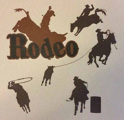 Rodeo Stampede Die Cut Paper Piecing Scrapbook Embellishment Layout Set Premade