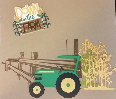 Down On The Farm Die Cut Paper Piecing Premade Scrapbook Page Embellishment Set