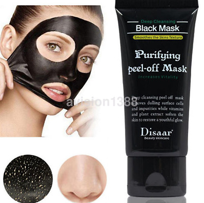 Deep Purifying Black Peel off Charcoal Mask Facial Cleansing Blackhead Remover~