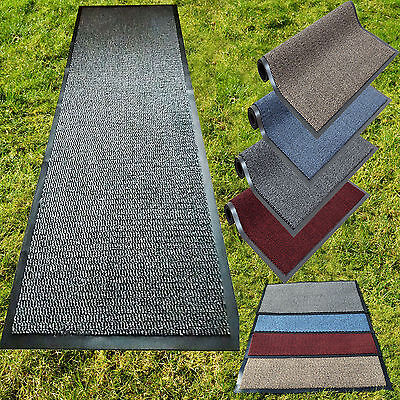 Large & Small Non Slip Rubber Barrier Mat Rugs Back Door Hall Kitchen Heavy Duty