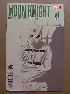 Moon Knight #1 Marvel Comics 2016 Series 3rd Print Variant 9.6 Near Mint+