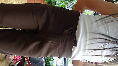 Girl size brown stretch pant for school uniform size 4,6,8,10,12,14