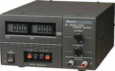 NEW Electrical 240V mains to 30V 3A Regulated Bench Top Power Supply OBM8200A