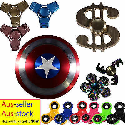 Fidget Hand Spinners Finger Toys EDC Focus Stress Reliever For Kids & Adults AU