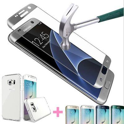 Full Cover Tempered Glass Screen Protector Samsung Galaxy S8 /Plus S7/Edge +Case