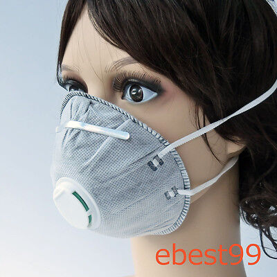 50 X Surgical Pig Mouth Mask Active Carbon Filter Dust/Toxic/Smell Gas Anti