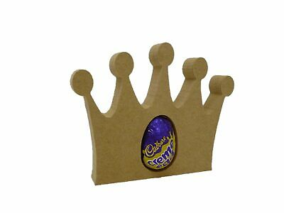 Free Standing Crown Shape Creme/Kinder Egg holder  Easter craft shape MDF F63