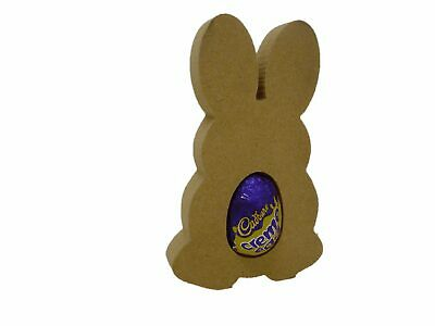 Free Standing Bunny Creme/Kinder Egg holder  Easter craft shape MDF F60