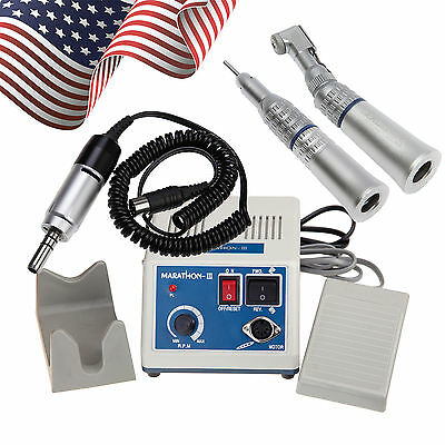 USA Dental Lab Marathon Micromotor with Contra Angle Straight Nose Cone 2.35mm