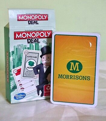 Travel Monopoly Deal Playing Card Game by Cartamundi Hasbro for Morrisons