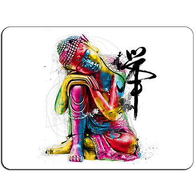 Mousepad EasyGrip Non Slip Mouse Pad WaterColor Buddha Y00164