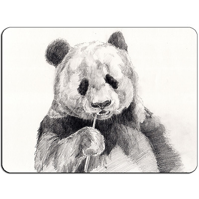 Mousepad EasyGrip Non Slip Mouse Pad Panda Drawing Y00882