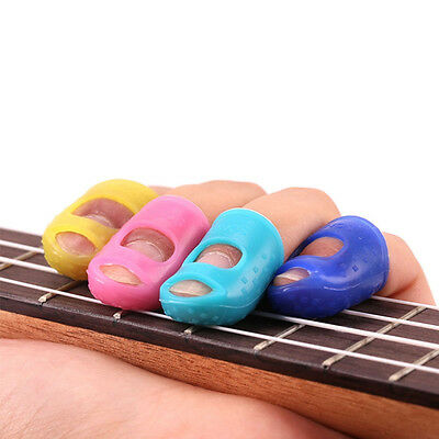 5pcs Silicone Guitar Finger Protector Left Hand Fingertips Four Sizes  Stylish
