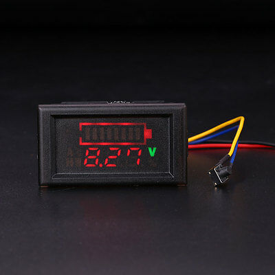 LED LCD Acid Lead Battery Status Indicator Capacity Dual Display Tester Meter