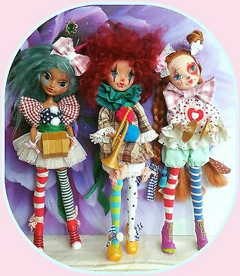 Repainted custom Ever After High clown doll*  beautiful*  please select*