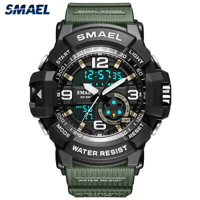 SMAEL Digital Watch Men Sport Watches Male LED Electronic Quartz Wristwatch Gift