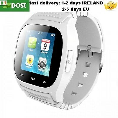 M26 Smart Watch Bluetooth For Android Iphone Smartphone WHITE COLOUR
