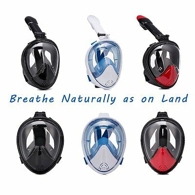 Swimming Diving Full Face Snorkel Scuba Anti-Fog Mask Breather Pipe For GoPro US