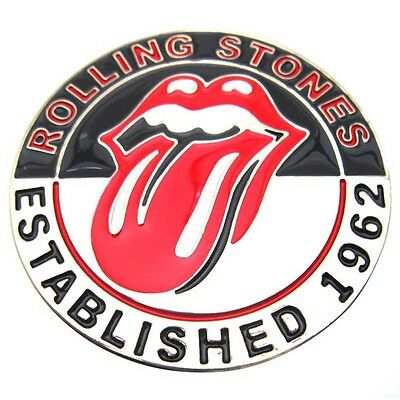 Vintage Men's Metal Rolling Stones Rock And Roll Tongue Belt Buckle Cool