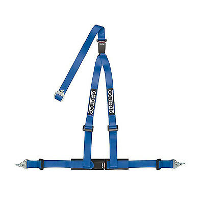 Sparco 3 - point 2 inch Safety Belts, cleaved at the back, blue